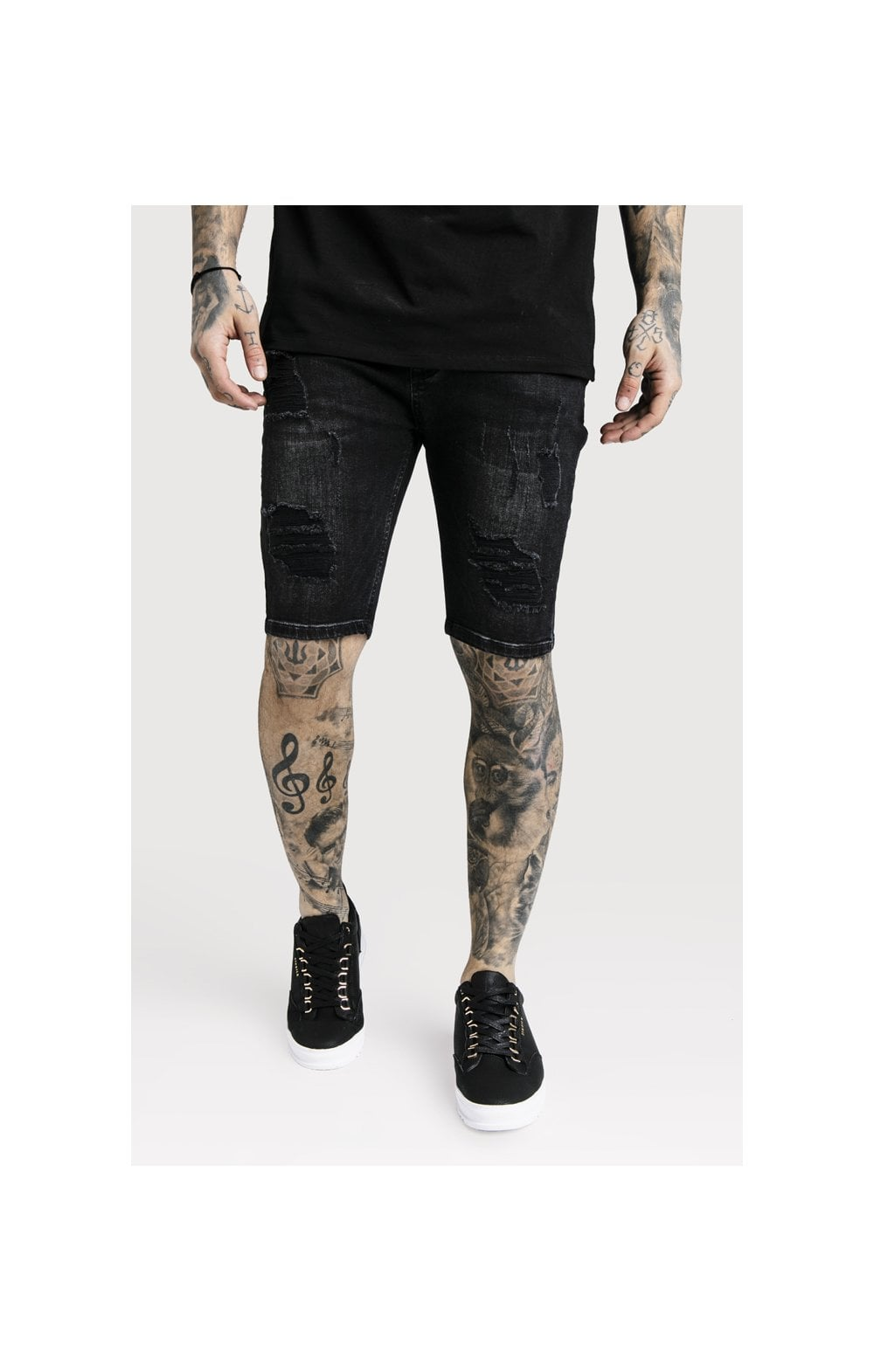 Load image into Gallery viewer, SikSilk Distressed Skinny Shorts (2)