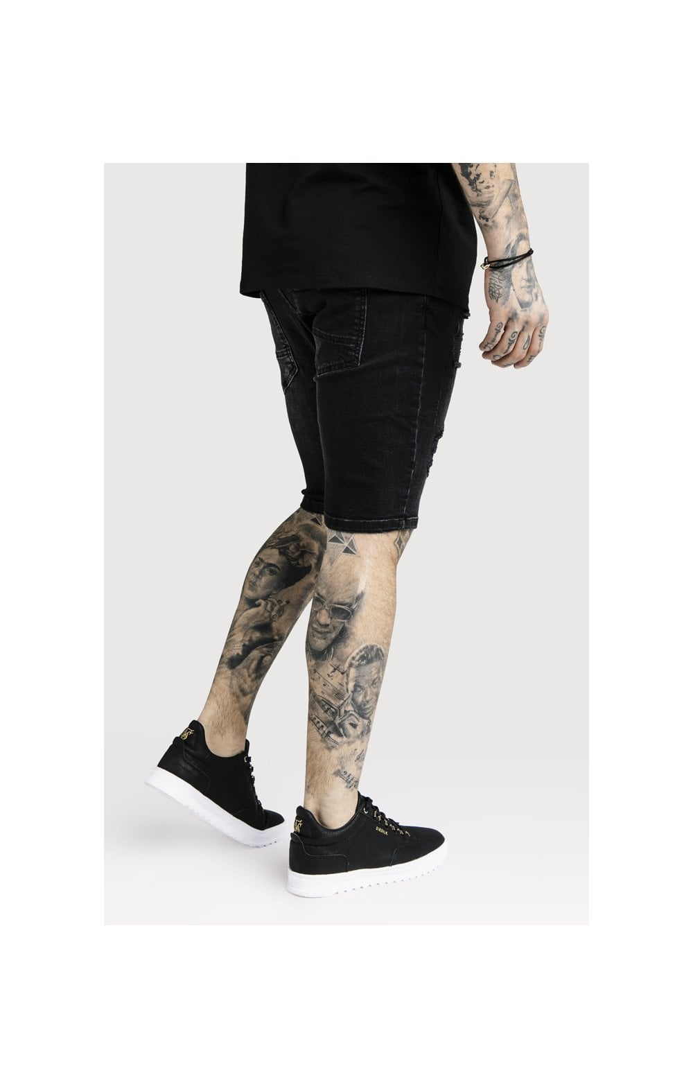 Load image into Gallery viewer, SikSilk Distressed Skinny Shorts (3)
