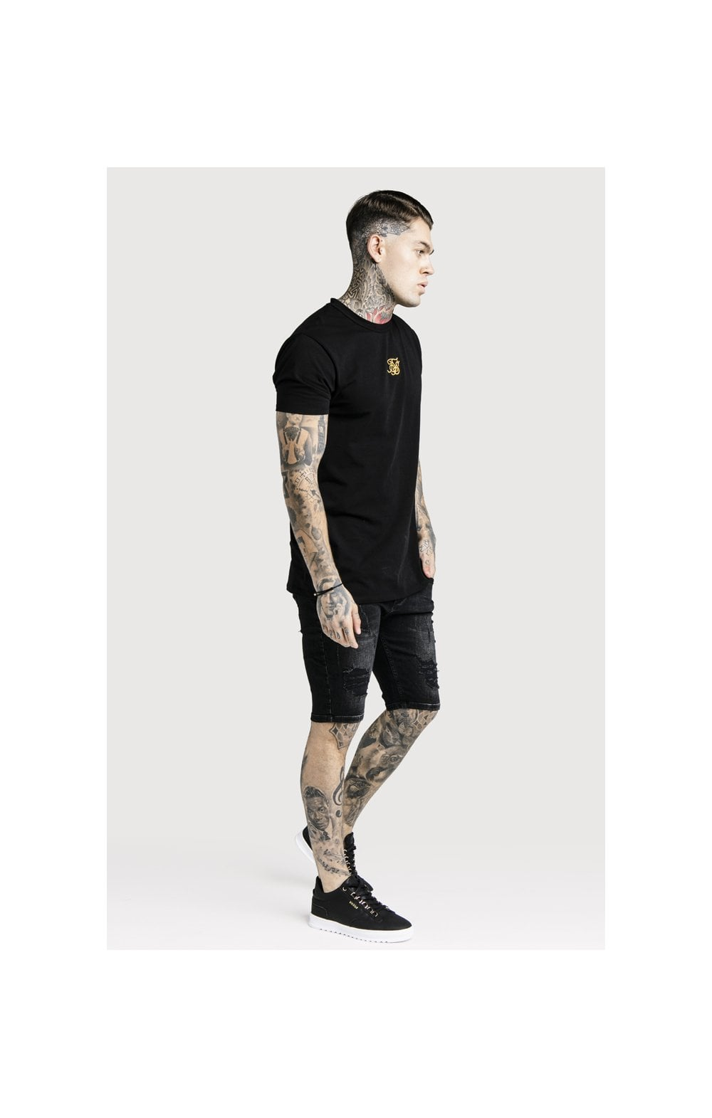 Load image into Gallery viewer, SikSilk Distressed Skinny Shorts (4)