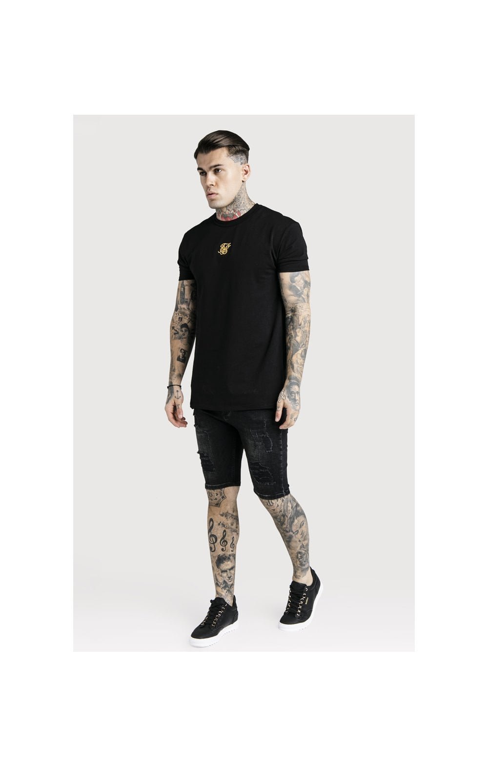 Load image into Gallery viewer, SikSilk Distressed Skinny Shorts (5)