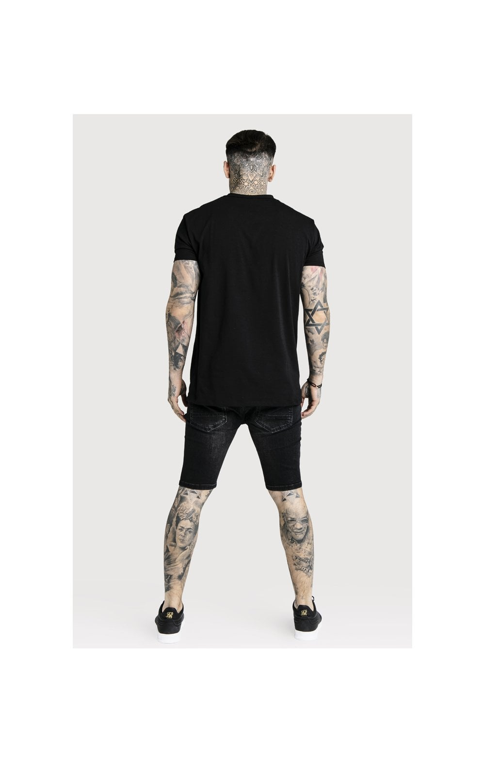 Load image into Gallery viewer, SikSilk Distressed Skinny Shorts (7)