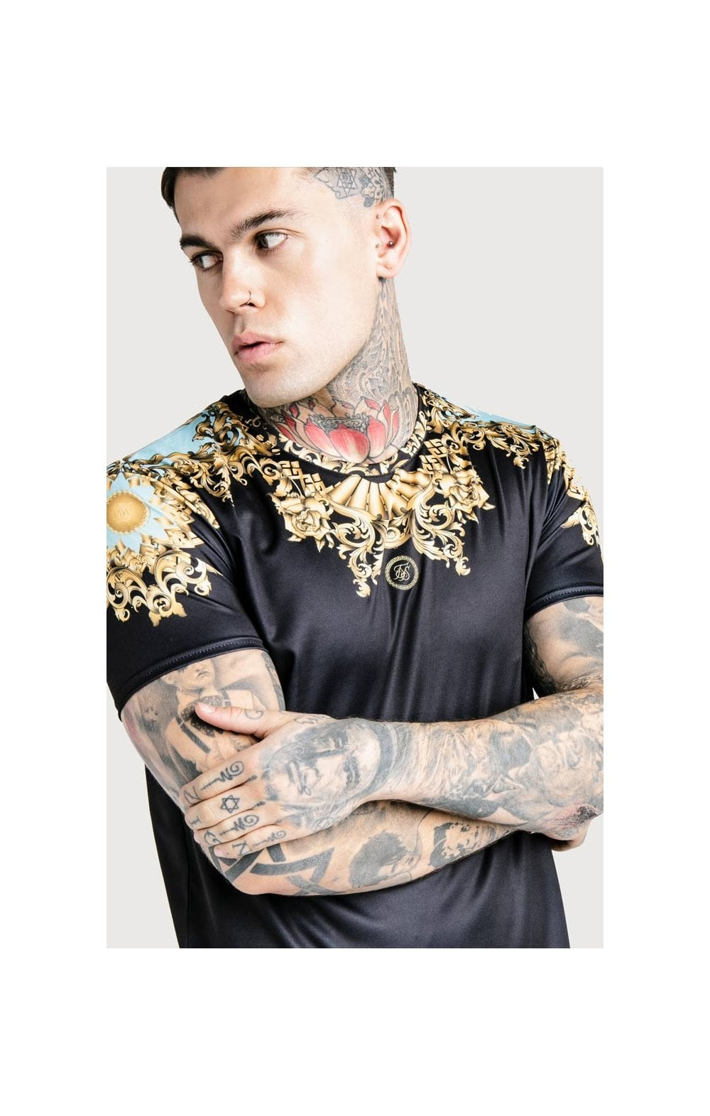 SikSilk x Dani Alves Lord Curved Hem Tee - Black