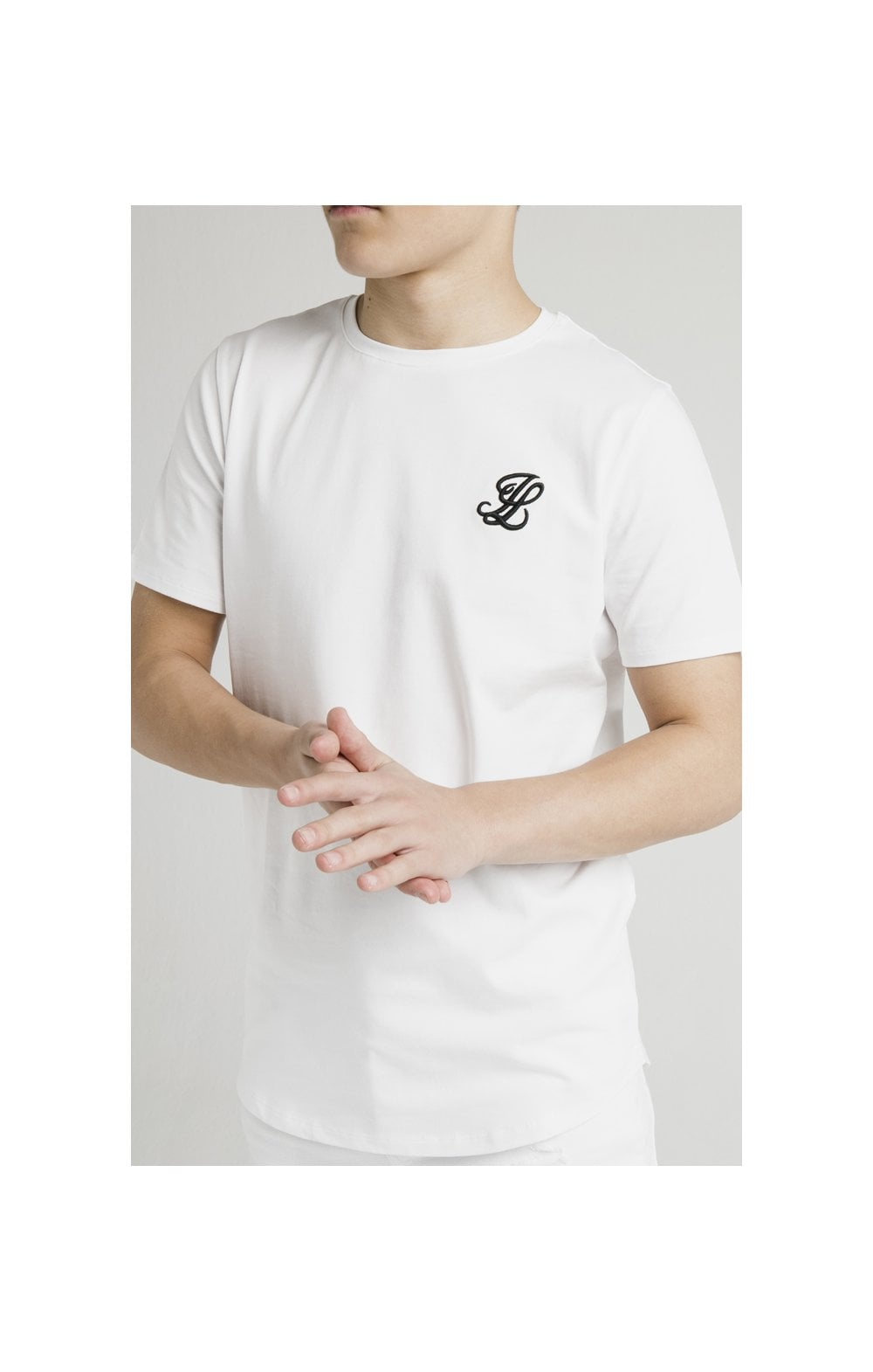 Load image into Gallery viewer, Illusive London Curved Hem Tee - White
