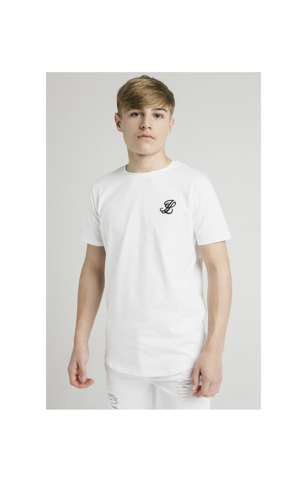 Load image into Gallery viewer, Illusive London Curved Hem Tee - White (1)