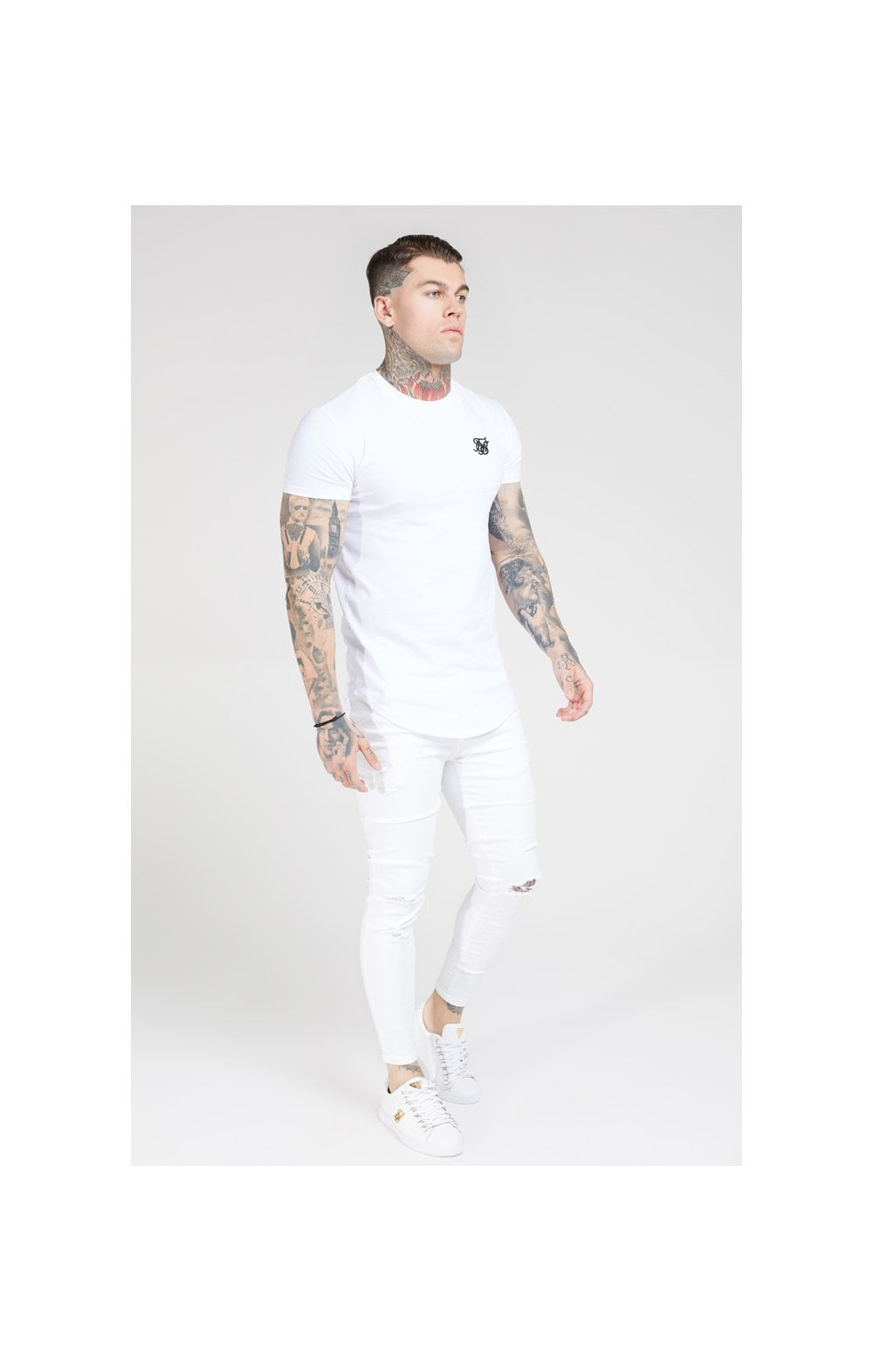 SikSilk Skinny Distressed Denim – White (4)