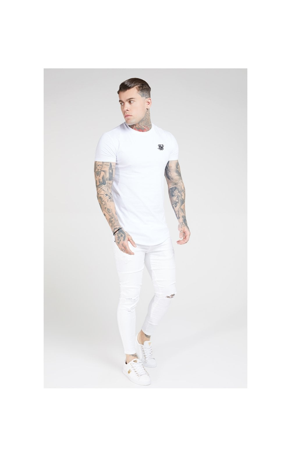 SikSilk Skinny Distressed Denim – White (5)