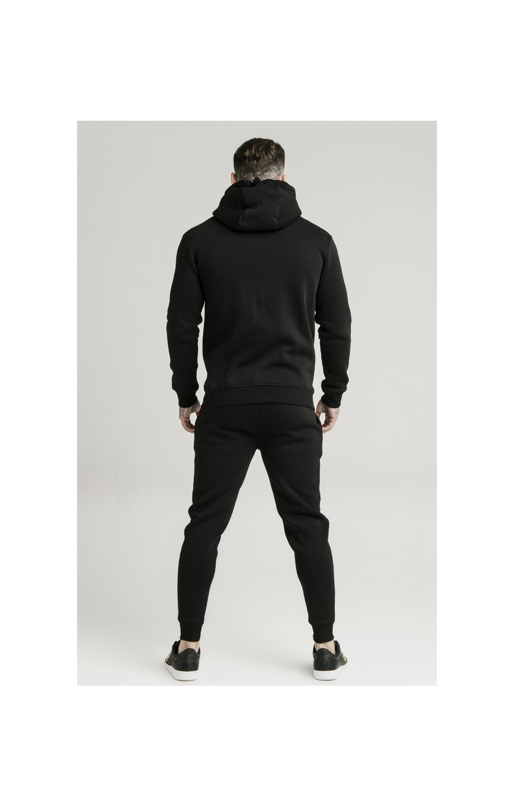 Load image into Gallery viewer, SikSilk Zip Through Funnel Neck Hoodie - Black (5)