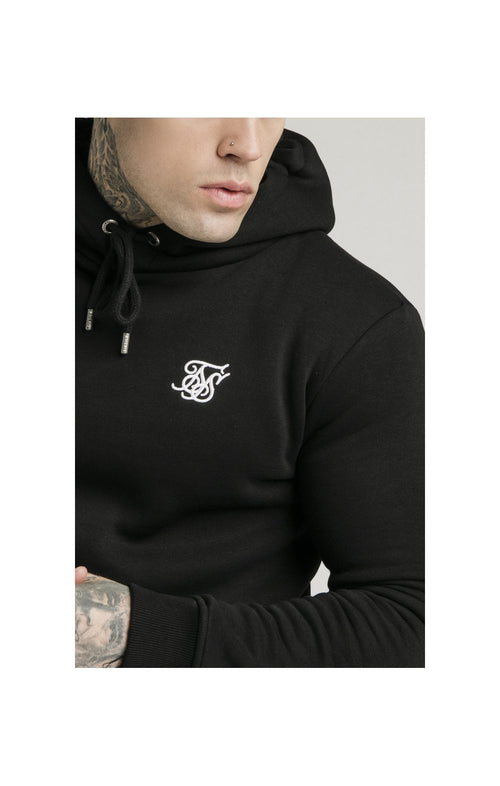 SikSilk Muscle Fit Overhead Hoodie - Black