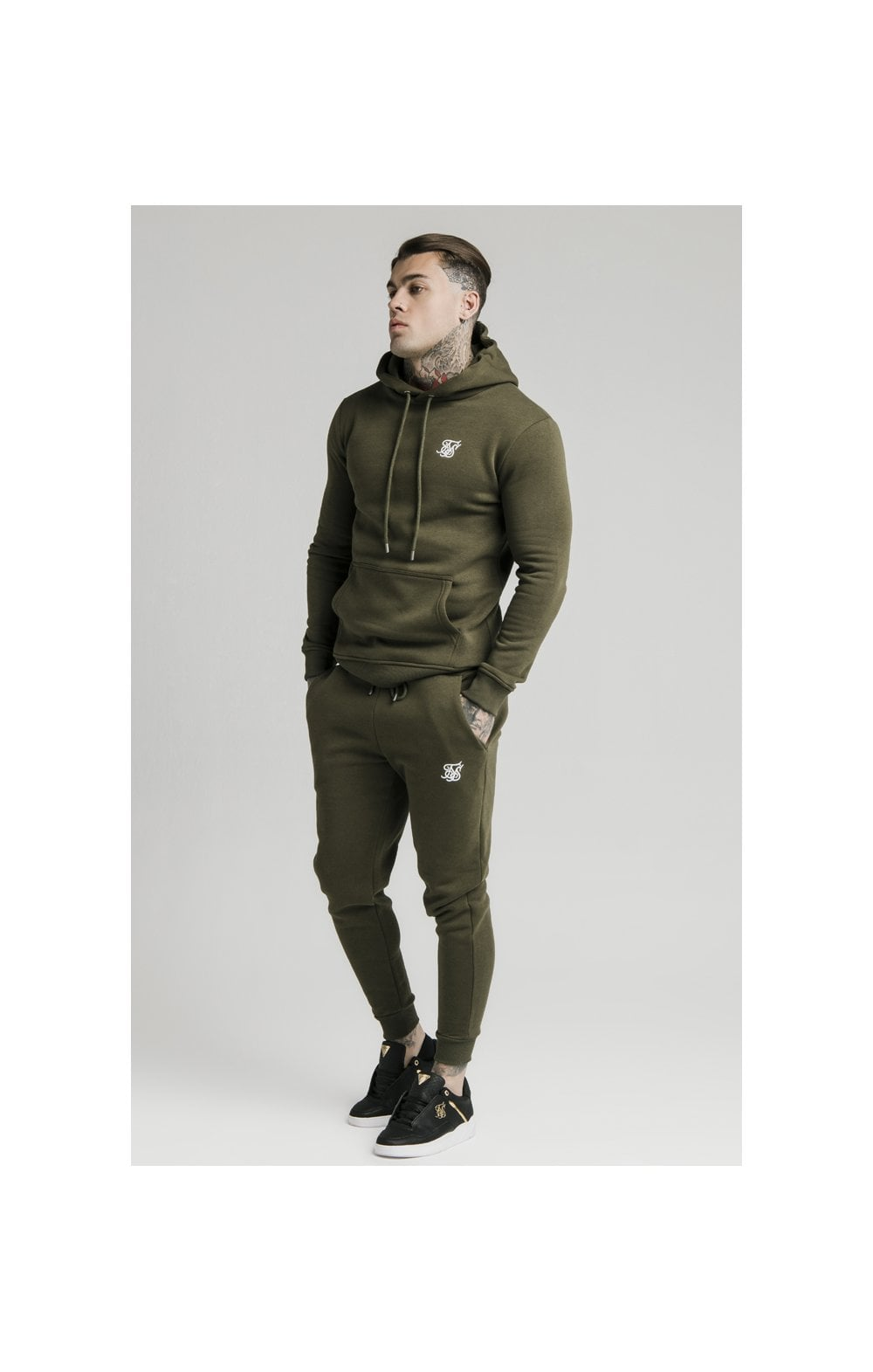 Load image into Gallery viewer, SikSilk Muscle Fit Overhead Hoodie - Khaki (1)