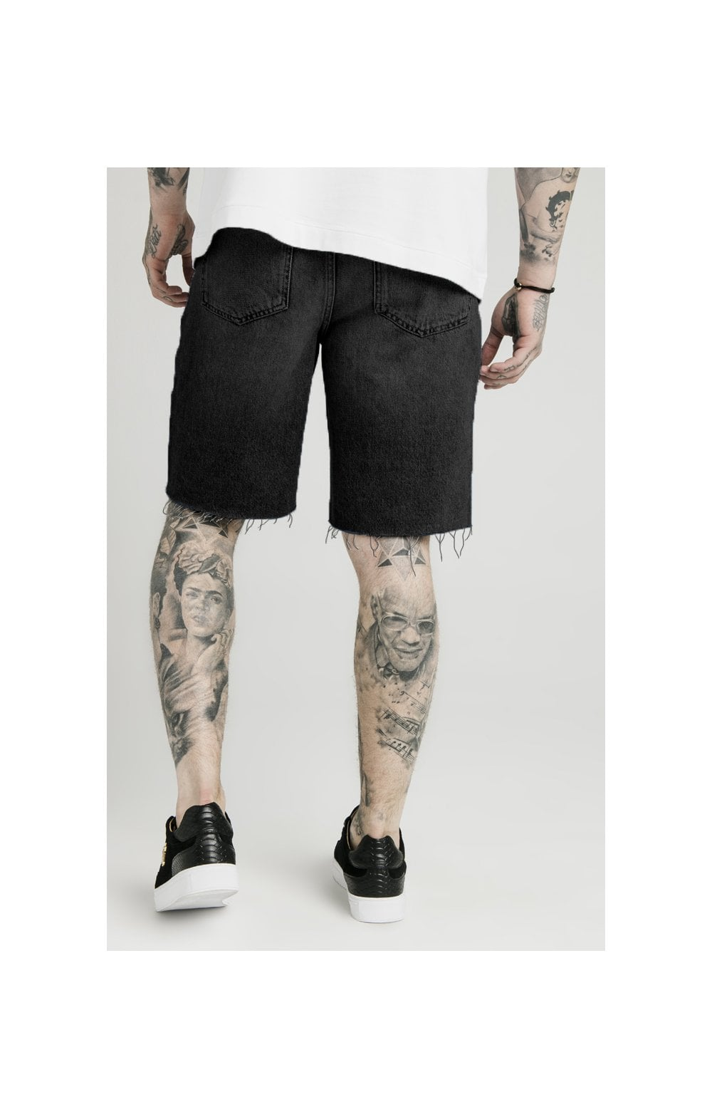 SikSilk x Dani Alves Loose Fit Denim Shorts - Black (1)