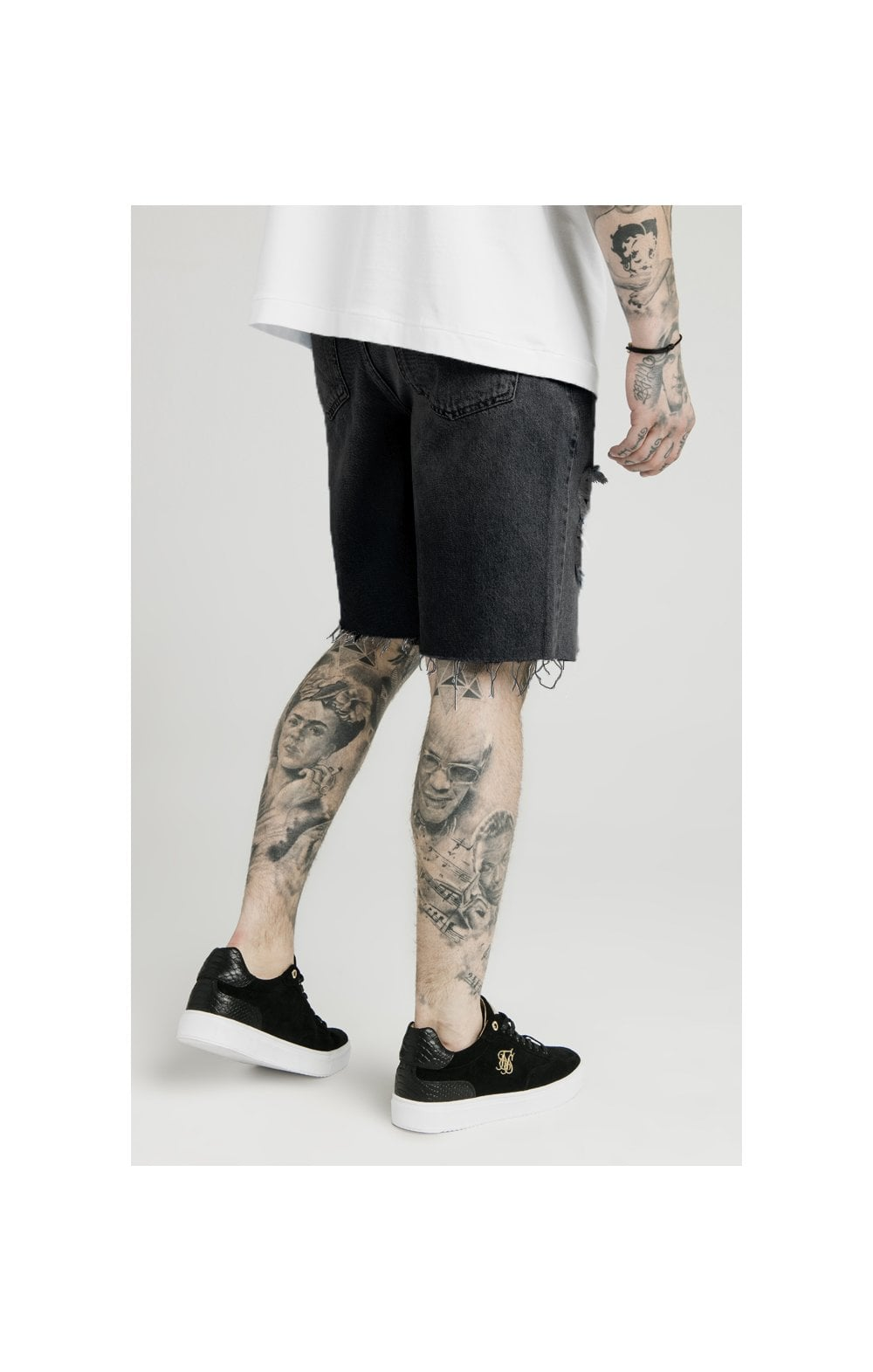 SikSilk x Dani Alves Loose Fit Denim Shorts - Black (2)