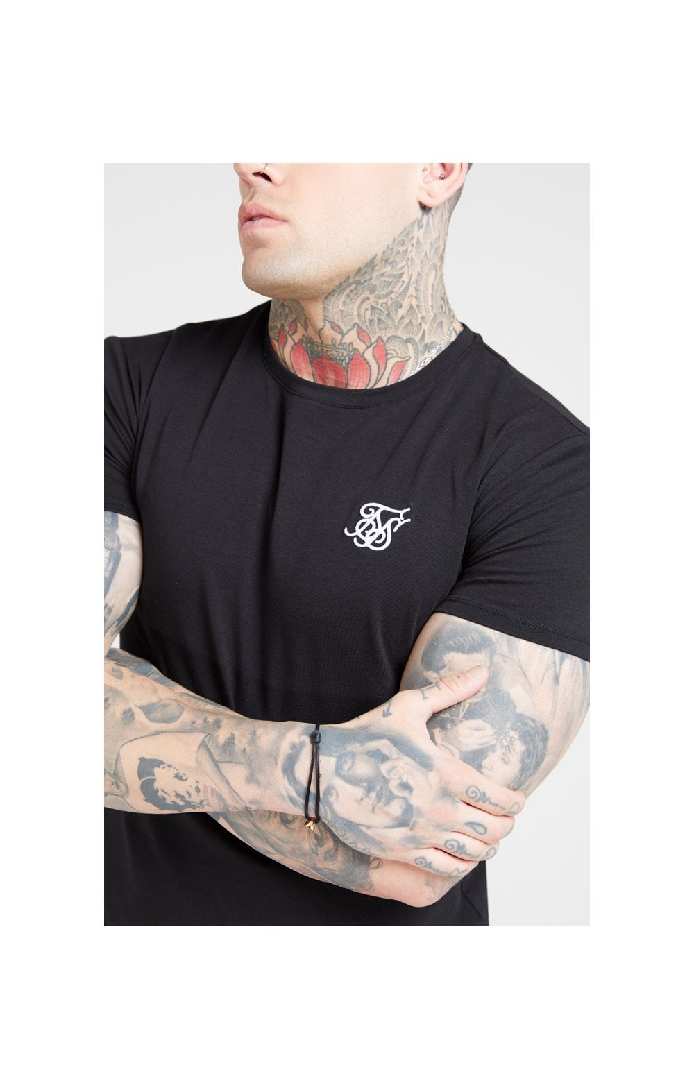 Load image into Gallery viewer, SikSilk S/S Core Gym Tee – Jet Black (5)