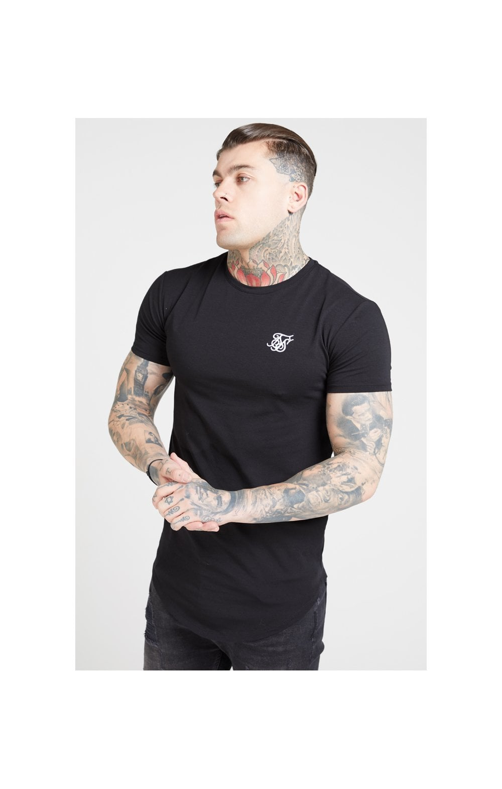 Load image into Gallery viewer, SikSilk S/S Core Gym Tee – Jet Black (1)