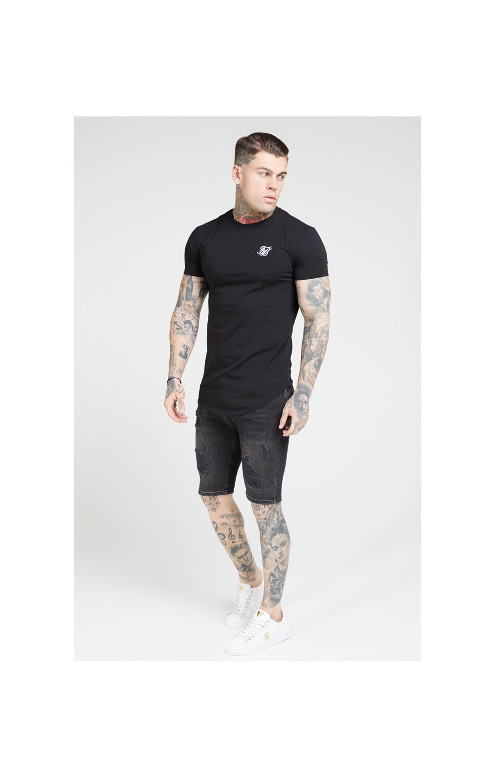 Load image into Gallery viewer, SikSilk S/S Core Gym Tee – Jet Black (2)