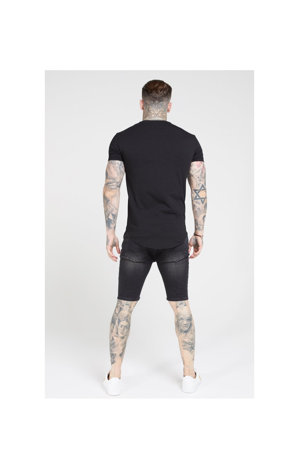 Load image into Gallery viewer, SikSilk S/S Core Gym Tee – Jet Black (4)