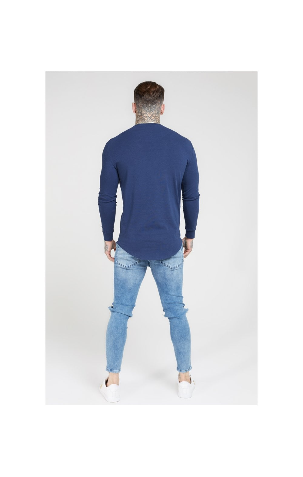 SikSilk L/S Core Gym Tee – Navy (4)