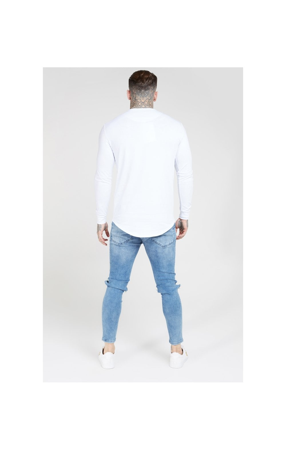 Load image into Gallery viewer, SikSilk L/S Core Gym Tee White (5)