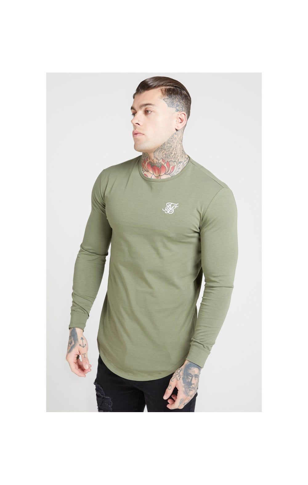 Load image into Gallery viewer, SikSilk L/S Core Gym Tee – Khaki (1)