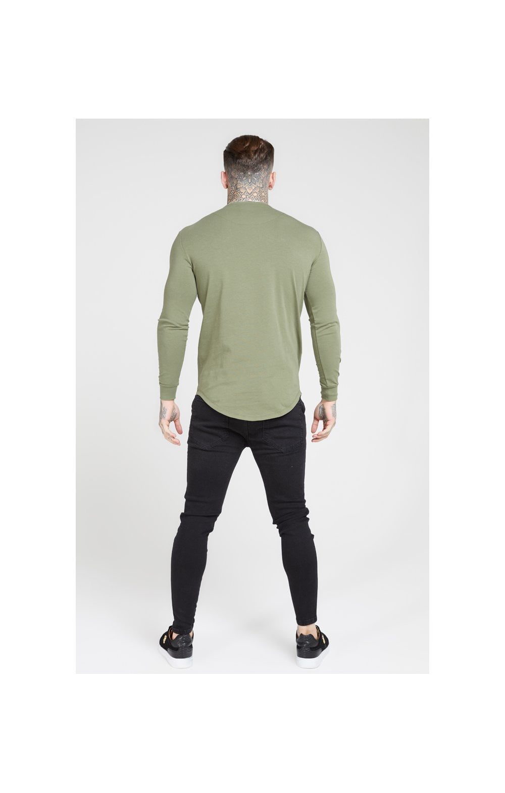 Load image into Gallery viewer, SikSilk L/S Core Gym Tee – Khaki (4)