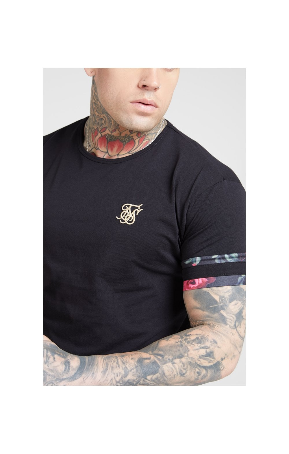 SikSilk S/S Tournament Tee – Black & Oil Paint