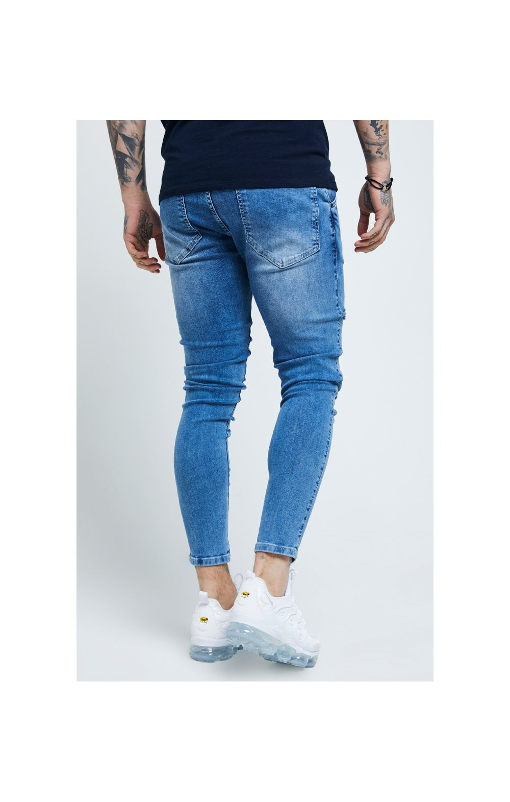 SikSilk Distressed Skinny Denims - Mid Wash (2)