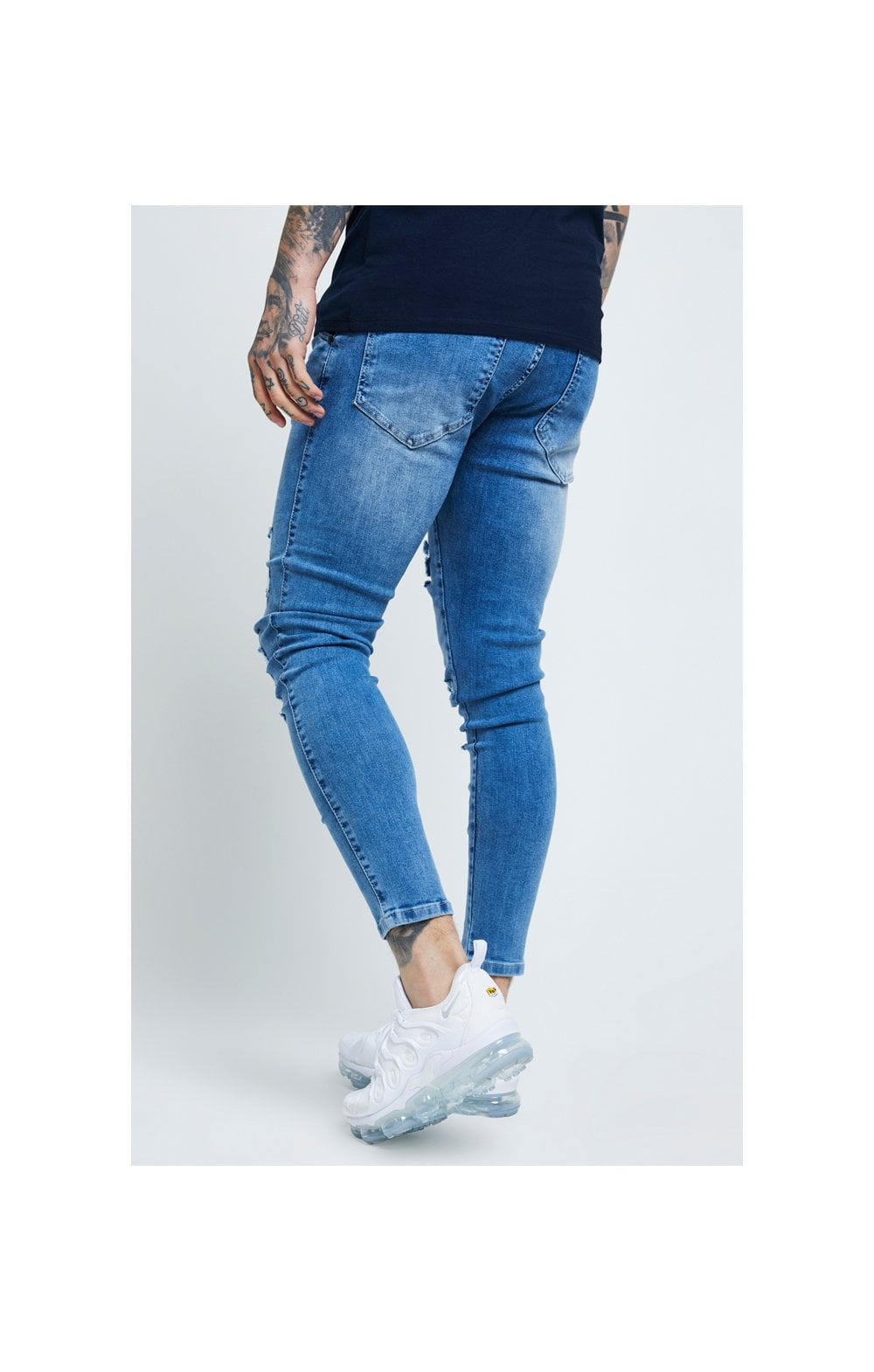 SikSilk Distressed Skinny Denims - Mid Wash (3)