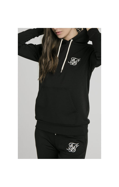 SikSilk Leopard Hooded Track Top – Black