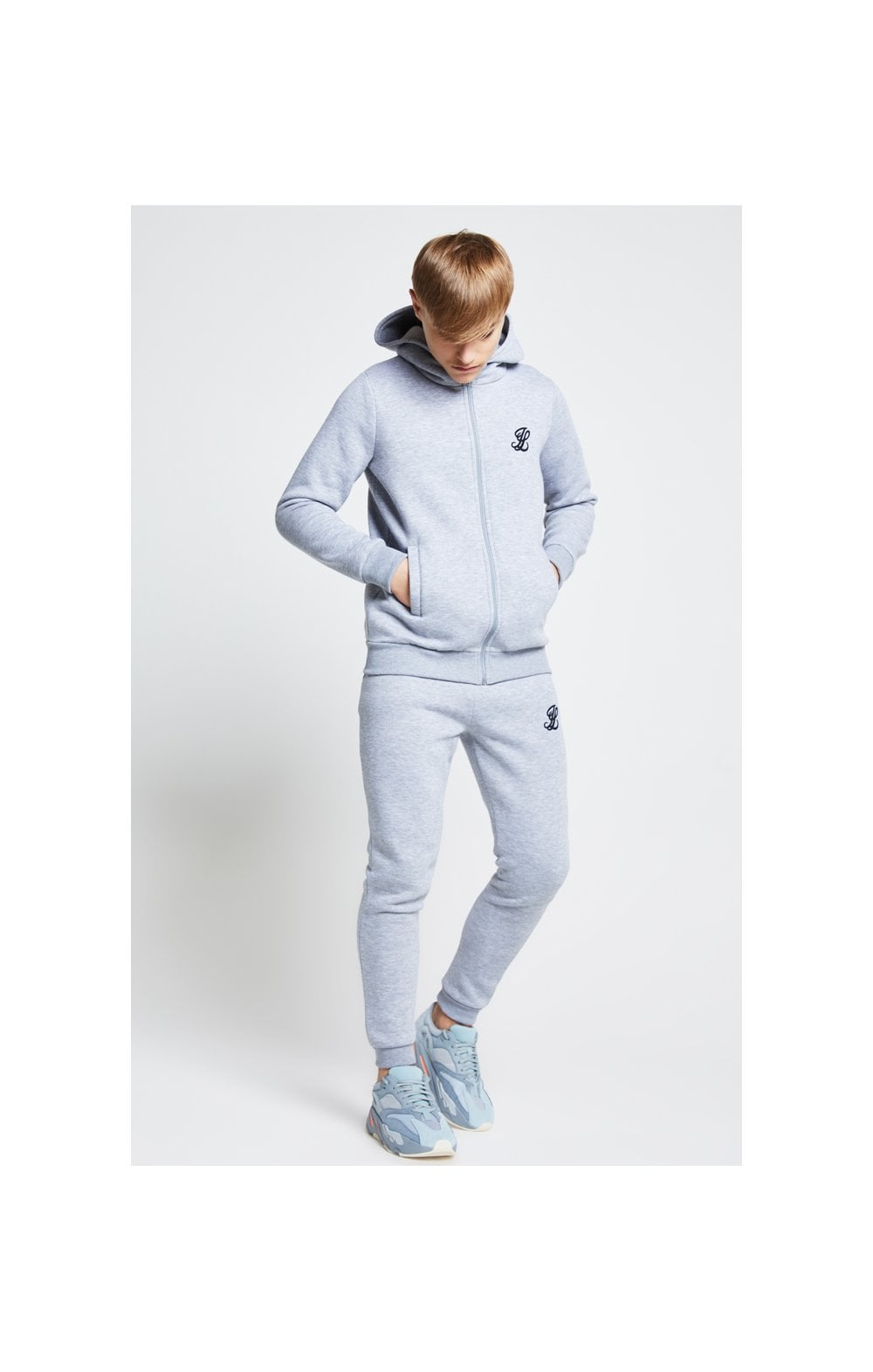 Load image into Gallery viewer, Illusive London Zip Through Hoodie - Grey Marl (2)
