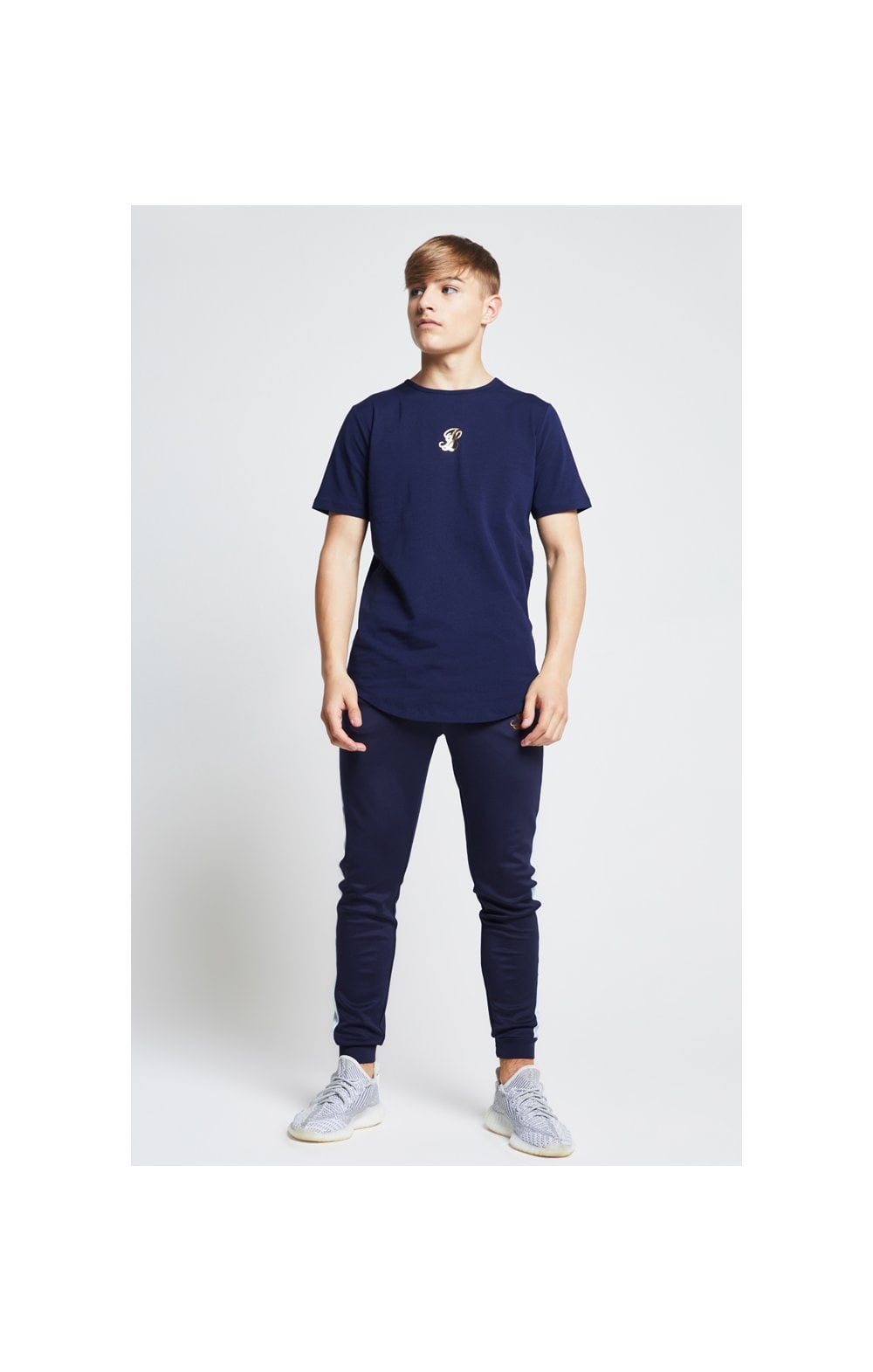Illusive London Marble Racer Back Tee – Navy & Marble (3)