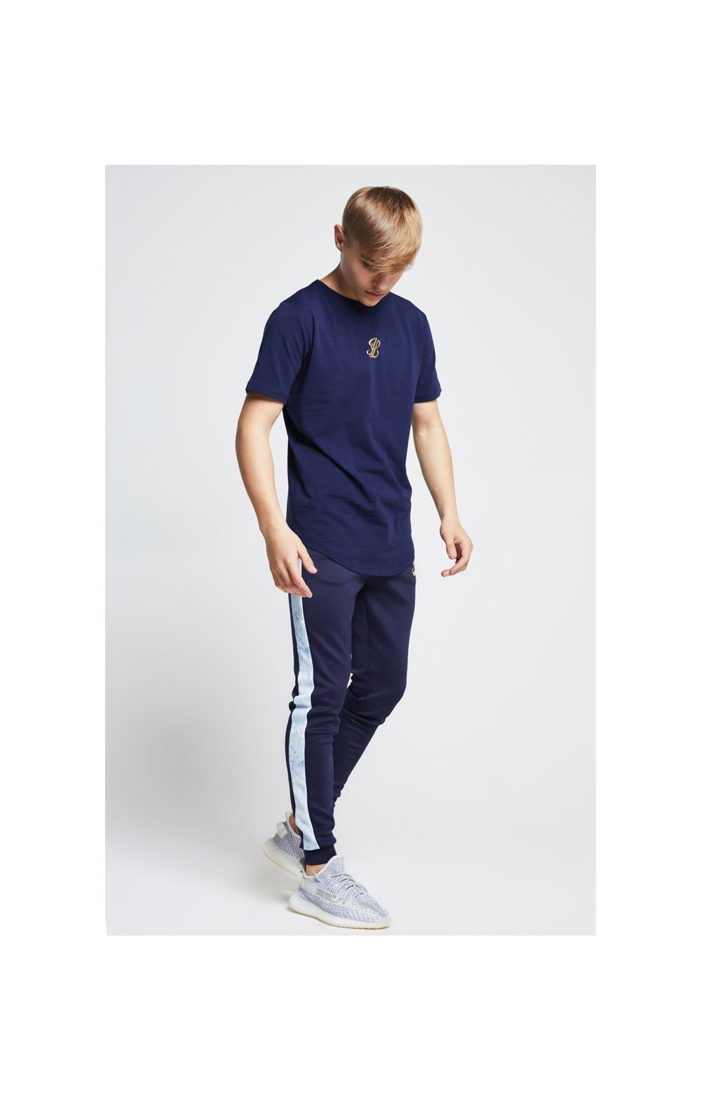 Illusive London Marble Racer Back Tee – Navy & Marble (4)