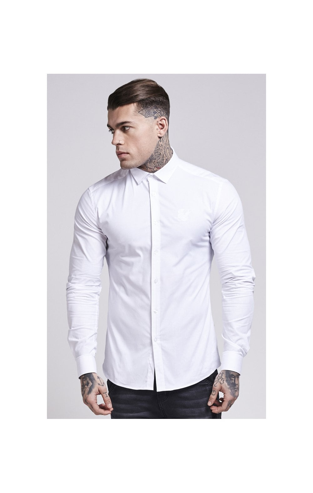 Load image into Gallery viewer, SikSilk Cotton Stretch Shirt - White