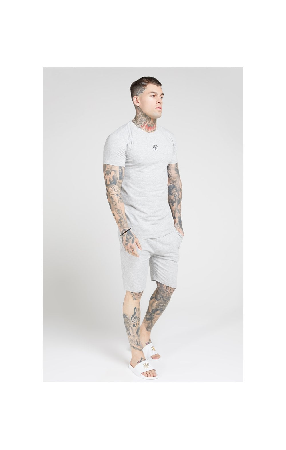 SikSilk Lounge Tee - Black & Grey (2 Pack) - 1 Grey Tee & 1 Black Tee (5)