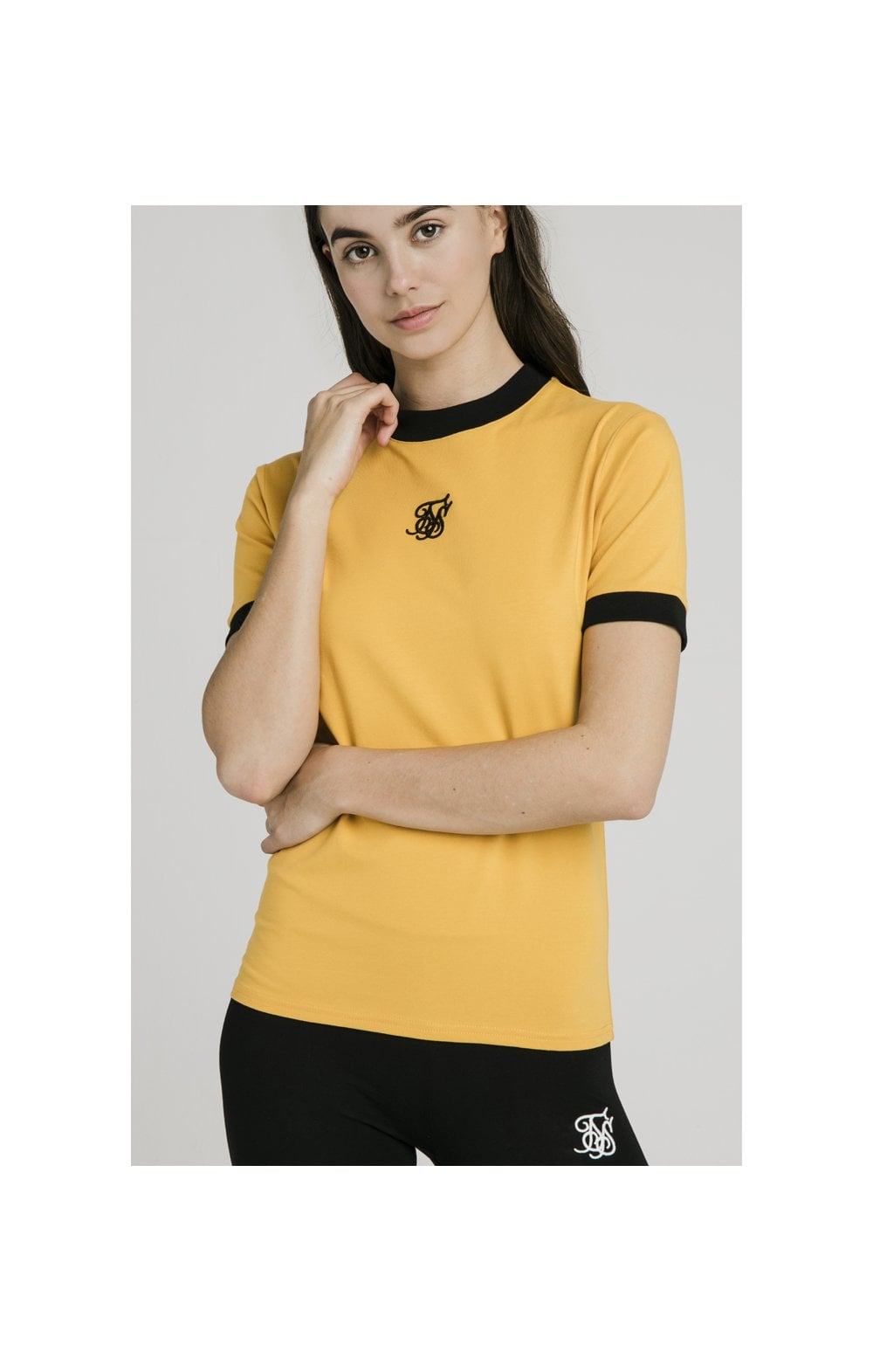 Load image into Gallery viewer, SikSilk Ringer Tee – Golden Sun (1)