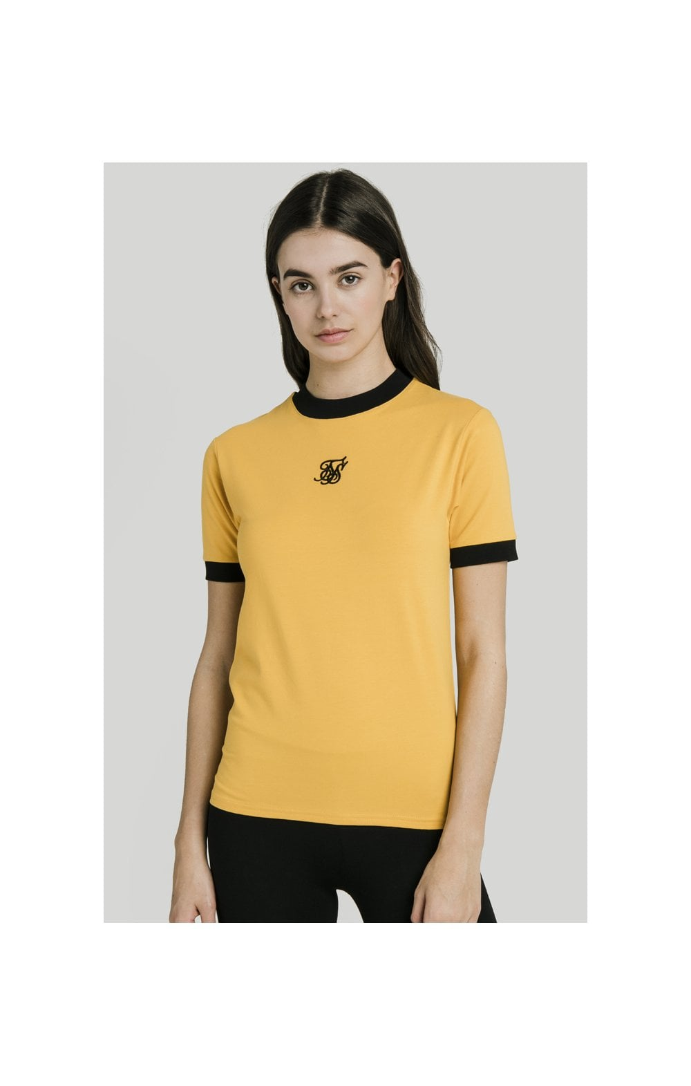 Load image into Gallery viewer, SikSilk Ringer Tee – Golden Sun (2)