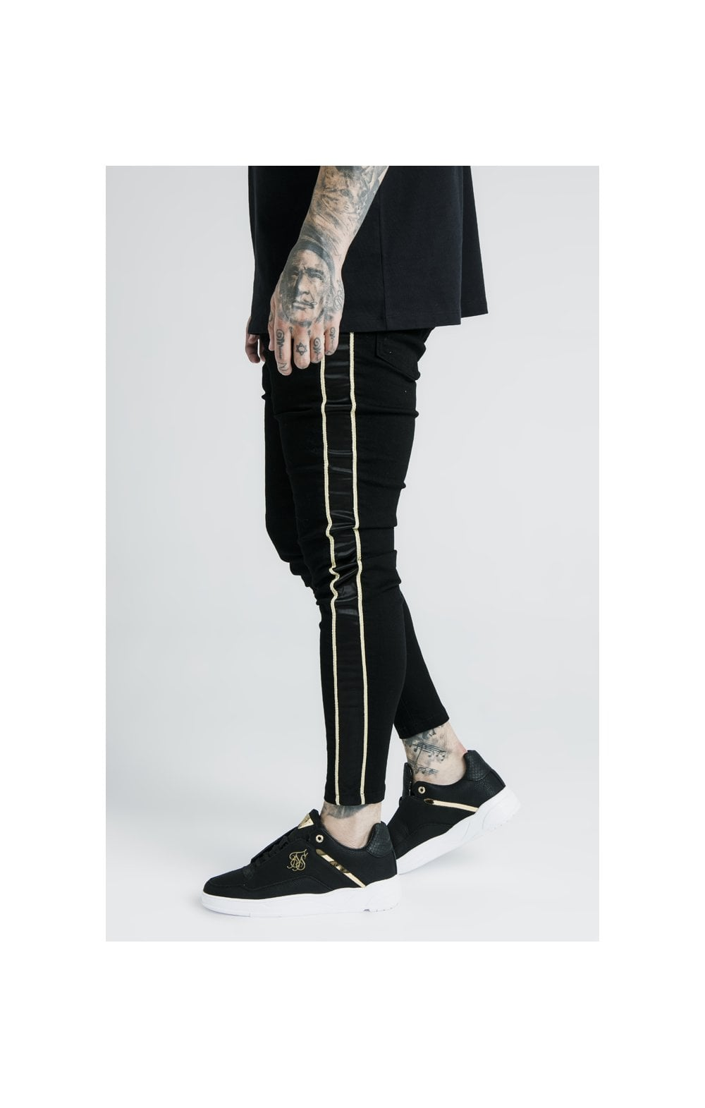 SikSilk x Dani Alves Skinny Rope Denim - Black