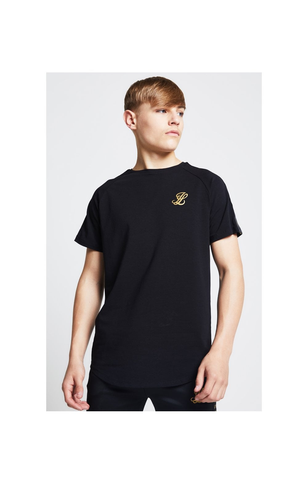 Load image into Gallery viewer, Illusive London Taped Raglan Tee - Black (1)