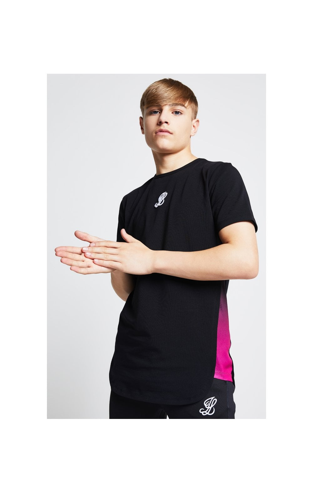 Illusive London Slide Tee - Black & Pink