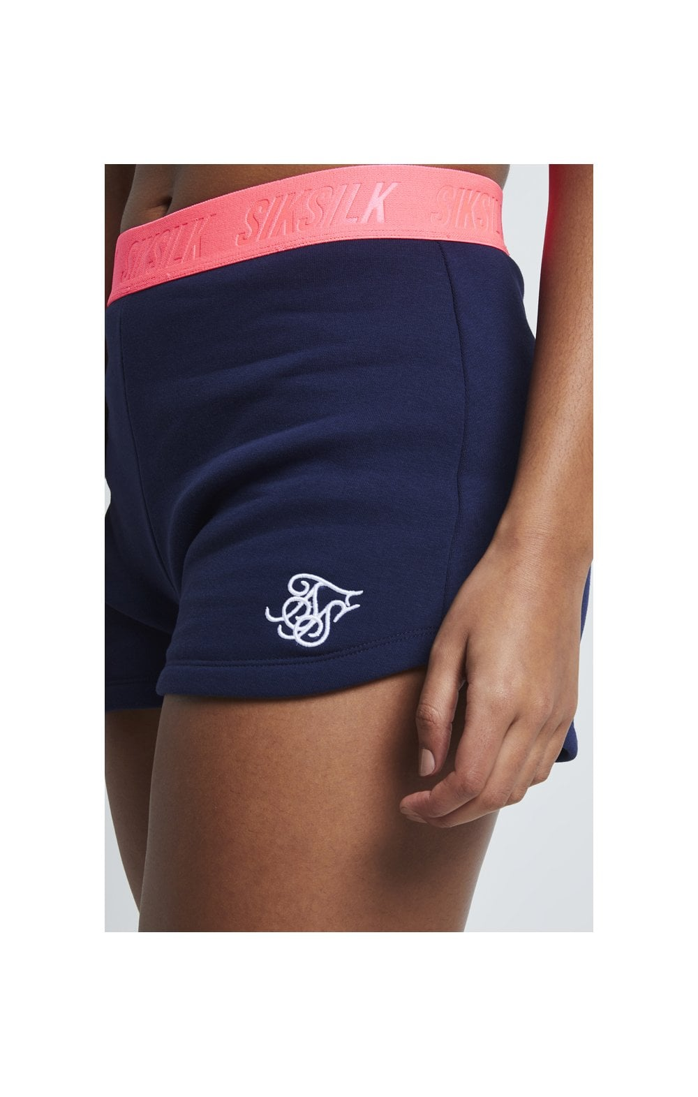 SikSilk Neon Tape Gym Shorts – Navy