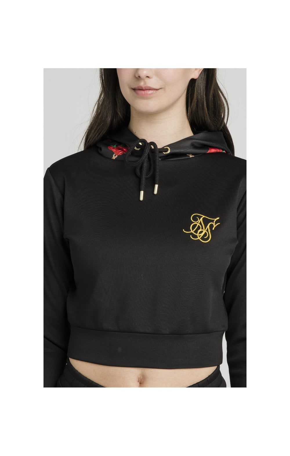 Load image into Gallery viewer, SikSilk Majestic Cropped Track Top – Black (1)