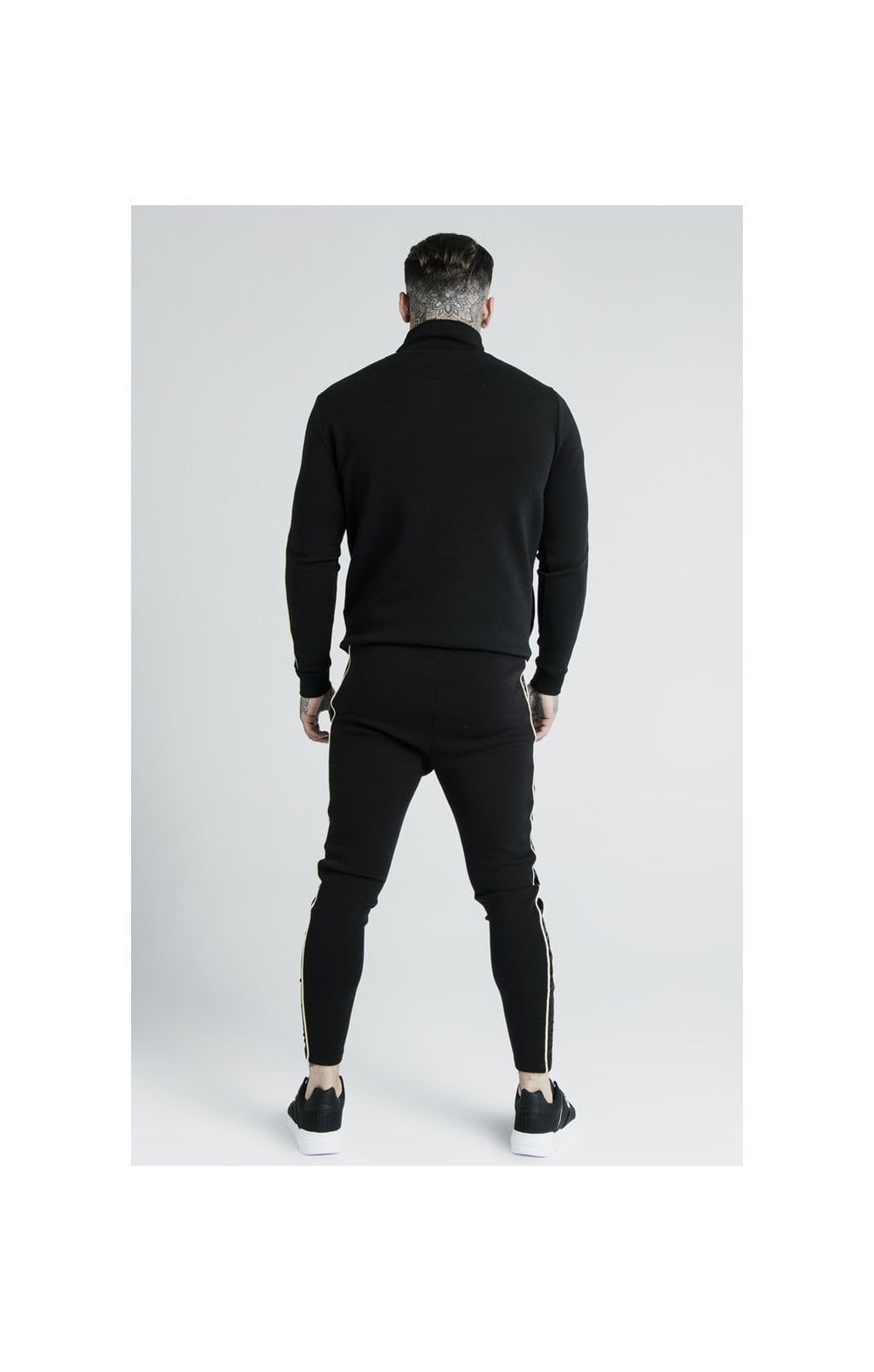 Load image into Gallery viewer, SikSilk x Dani Alves Quarter Zip Rope Track Top – Black (9)