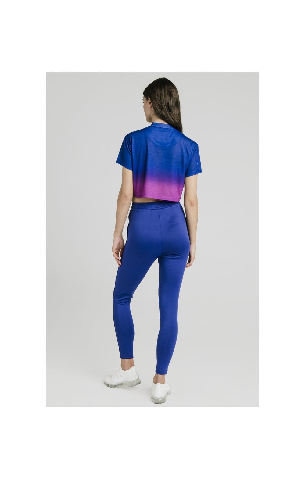 Load image into Gallery viewer, SikSilk Fade Crop Tee – Blue & Rose (4)