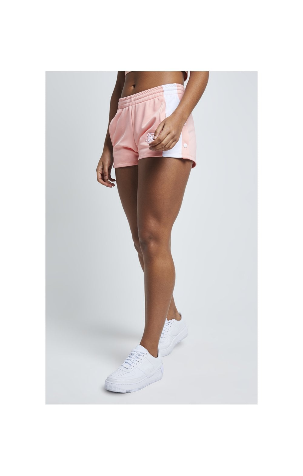 Load image into Gallery viewer, SikSilk Popper Side Shorts – Apricot Blush