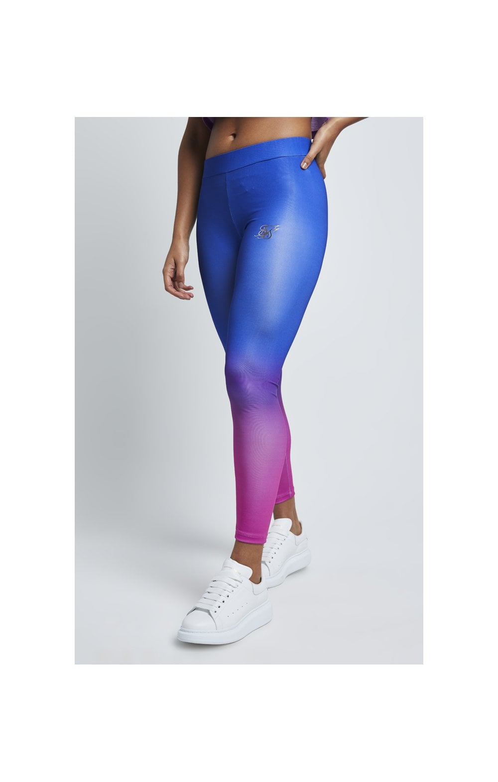 SikSilk Fade Leggings – Blue & Rose