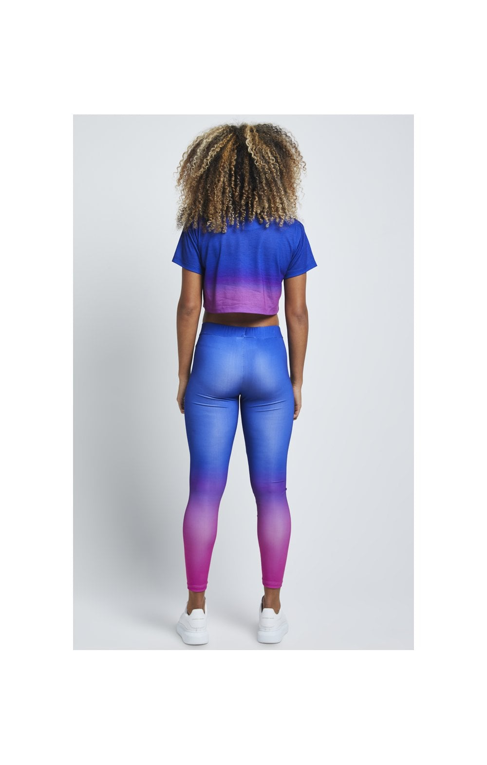SikSilk Fade Leggings – Blue & Rose (4)