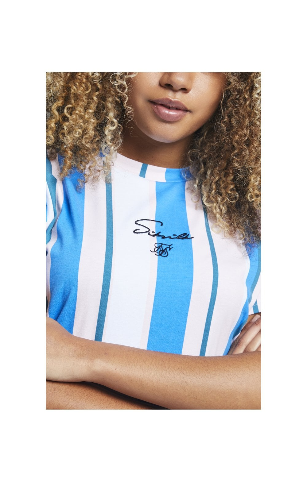 Load image into Gallery viewer, SikSilk 90's Stripe T-Shirt Dress - Rotary Stripe (1)