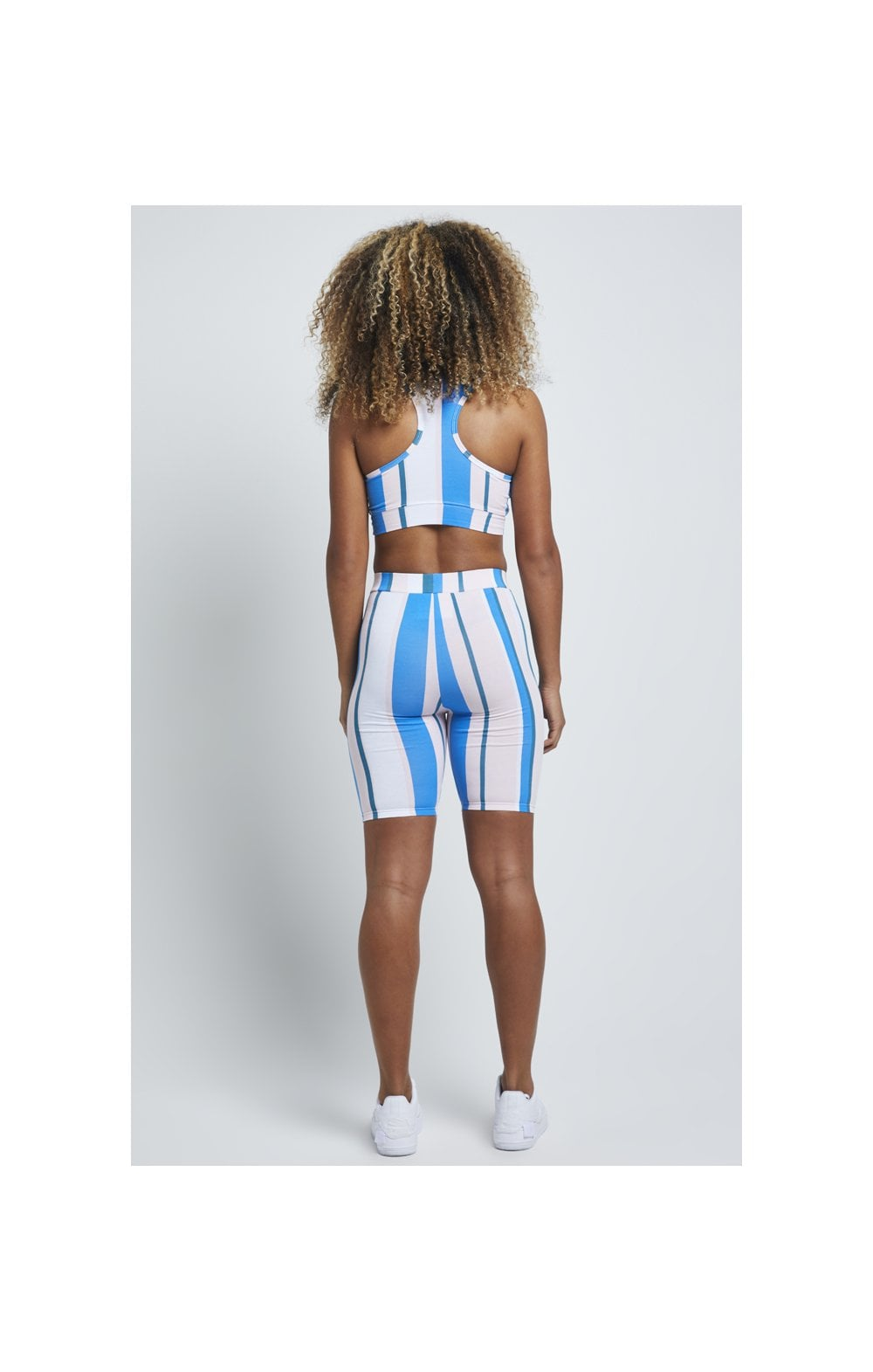 SikSilk 90's Stripe Cycle Shorts - Rotary Stripe (3)