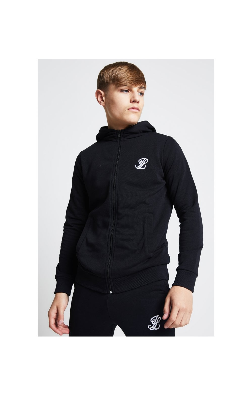 Load image into Gallery viewer, Illusive London Zip Through Hoodie - Black