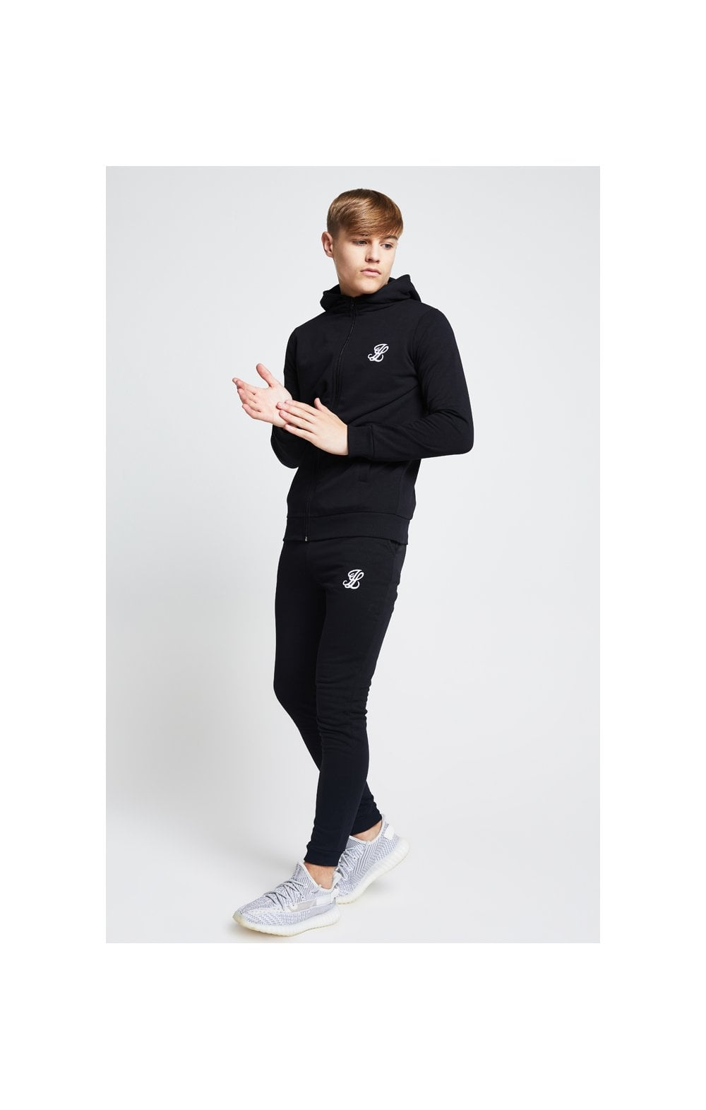 Load image into Gallery viewer, Illusive London Zip Through Hoodie - Black (2)