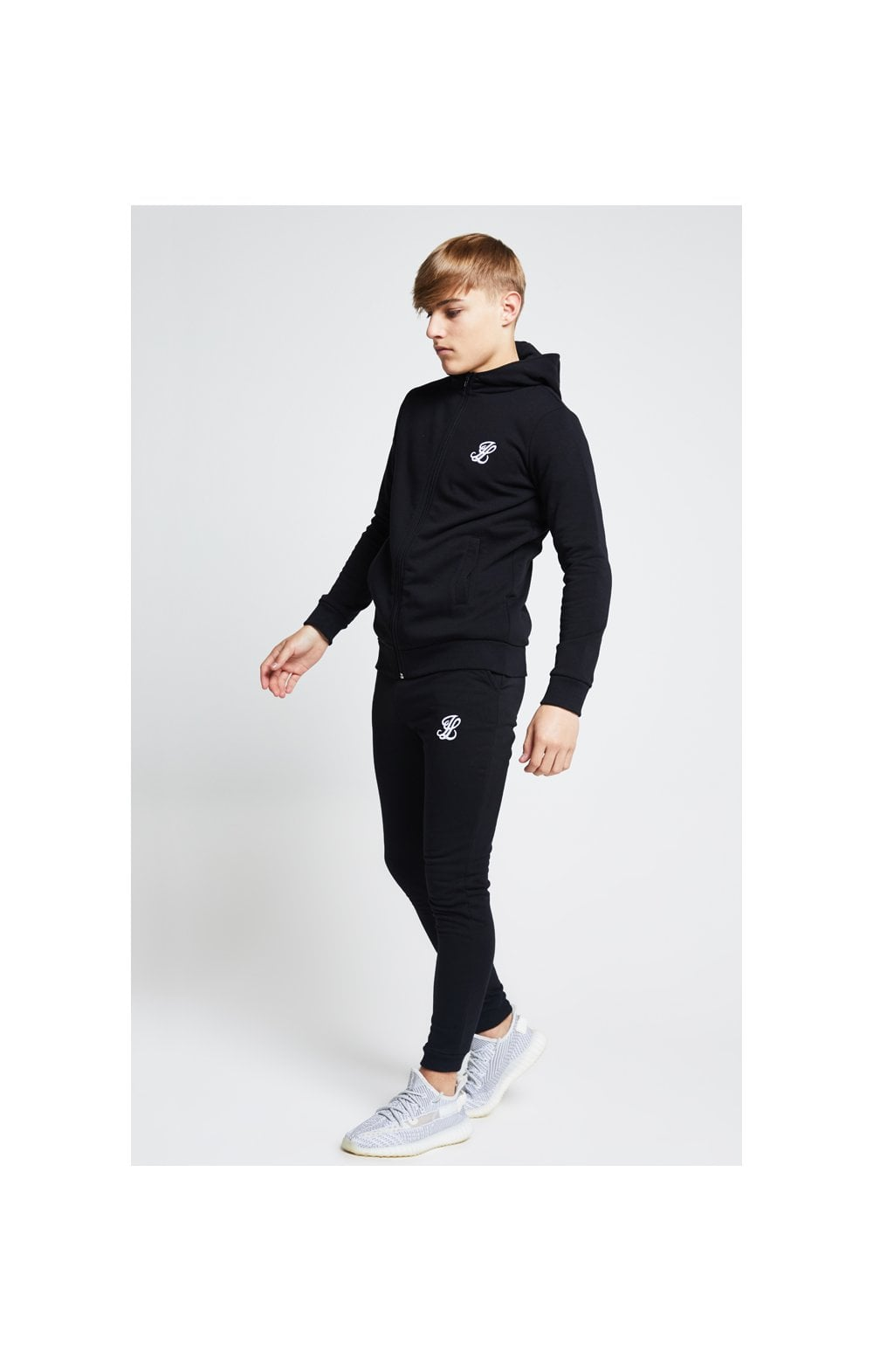 Load image into Gallery viewer, Illusive London Zip Through Hoodie - Black (3)