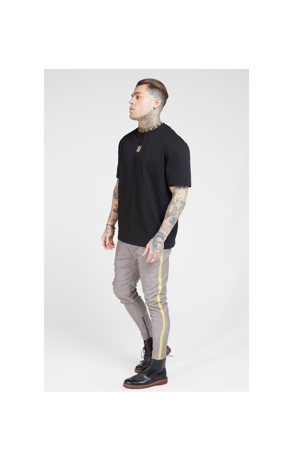 SikSilk Fitted Smart Tape Jogger Pants –Grey (1)